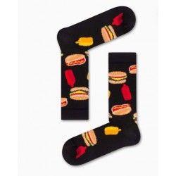 Black Burger Socks