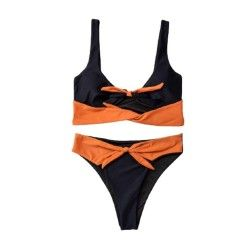 Black Orange Bandeau...