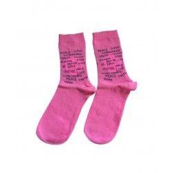 Peace Pink Socks Γυναικείες...