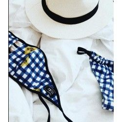 Chic mess Bikini Blue Plaid