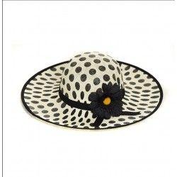 Ψάθινο καπέλο πουά